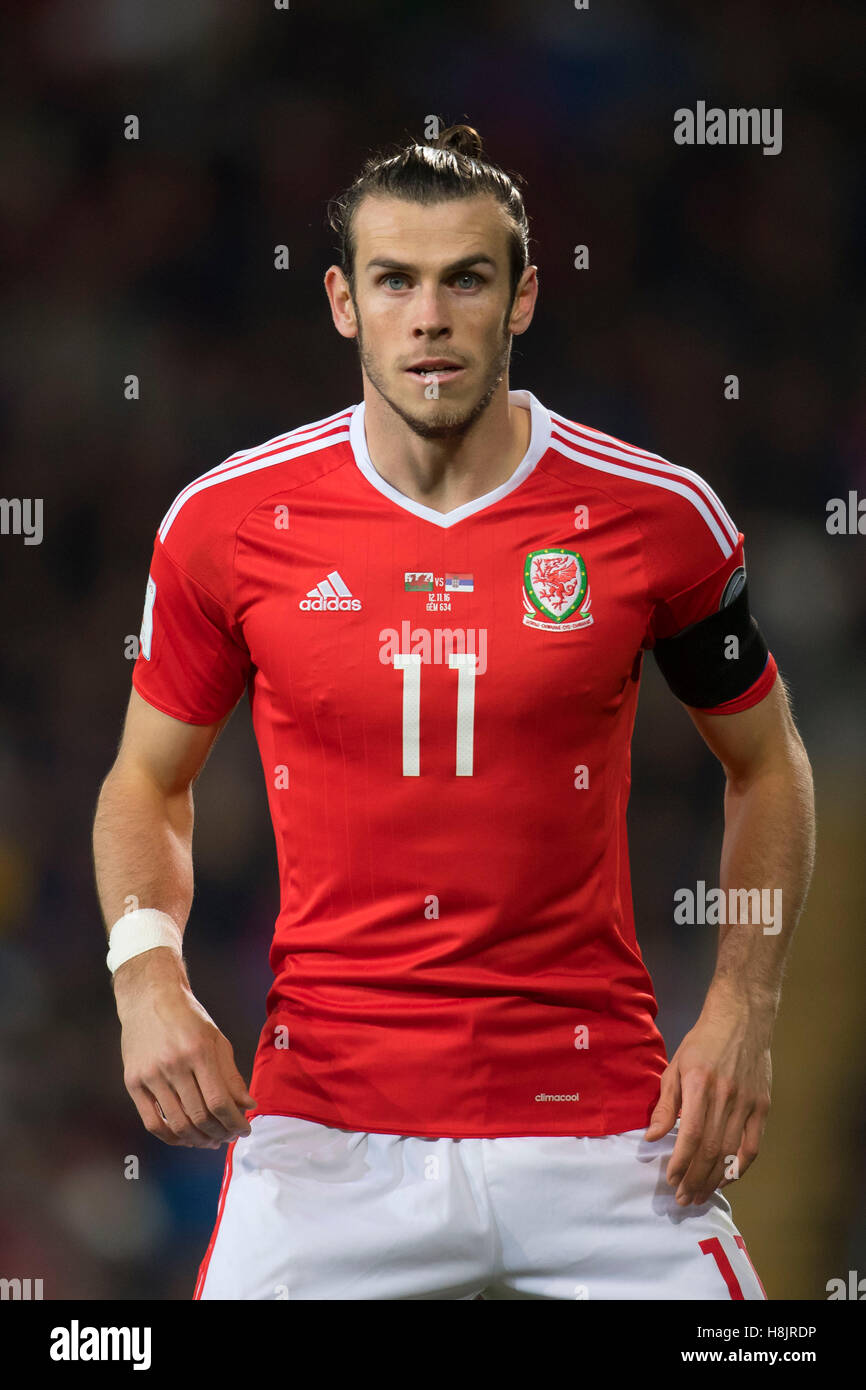 Wales footballer Gareth Bale in action. Stock Photo