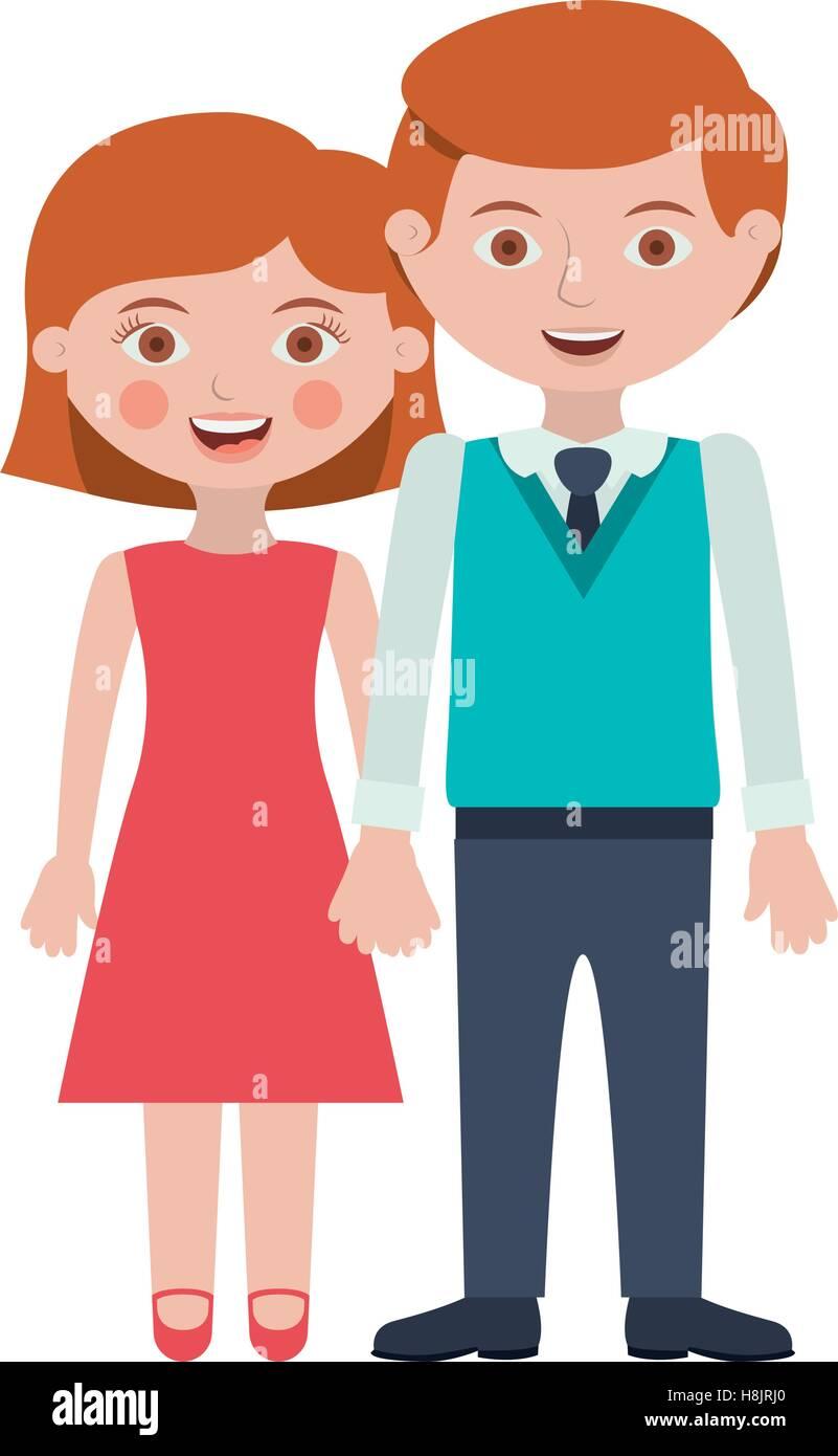 Couple Cartoon Icon Relationship Family Love And Romance Theme Stock Vector Image Art Alamy