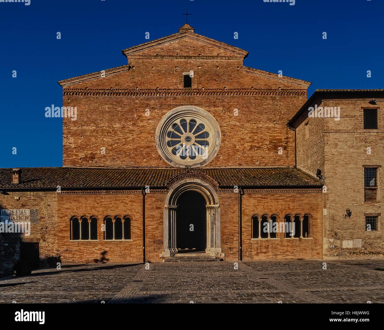 Italy Marche Chiaravalle in  Fiastra Abbey - Stock Image