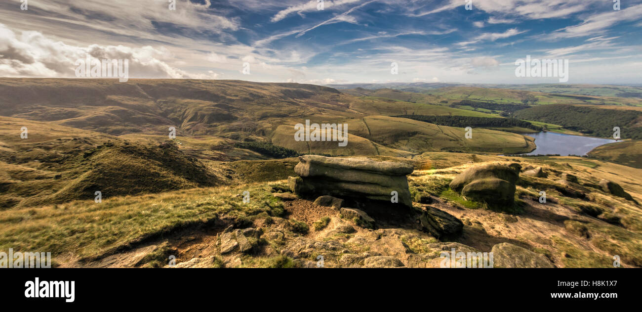 Kinder Scout on a clear day - Stock Image