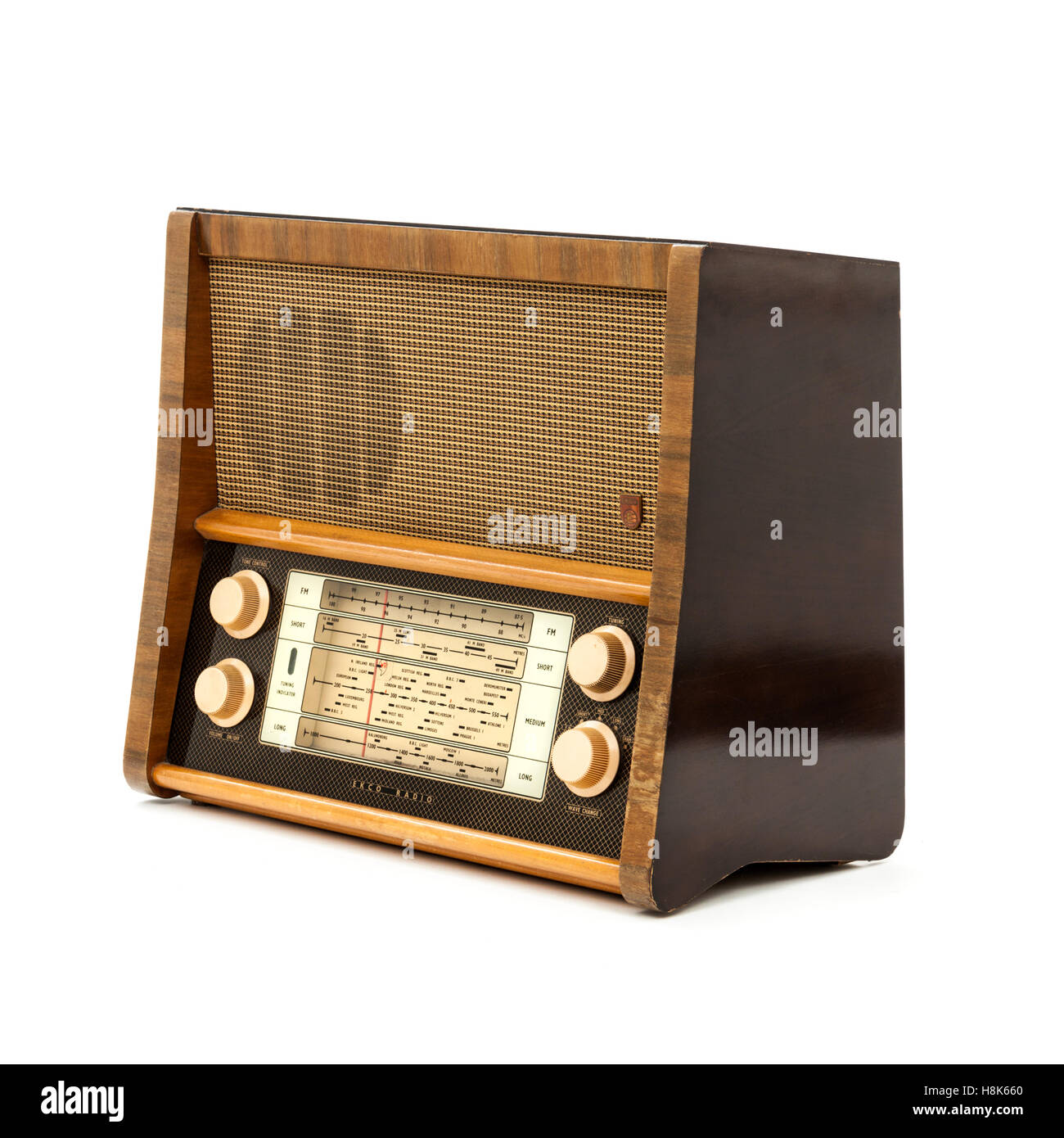 Ekco A239 valve radio from the 1950s - Stock Image