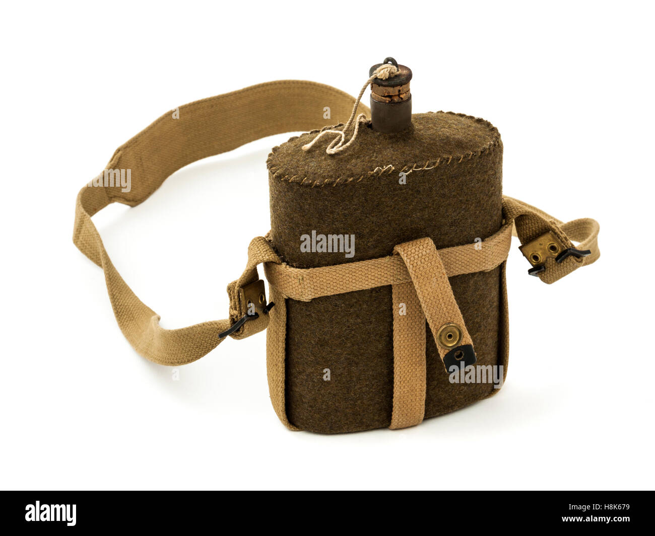 WW2 British Army water bottle - Stock Image