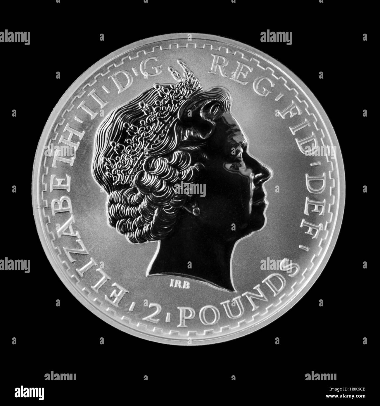 Royal Mint 1999 Brittania Silver Bullion £2 Coin, issued in a Limited Edition of 100,000 - Stock Image