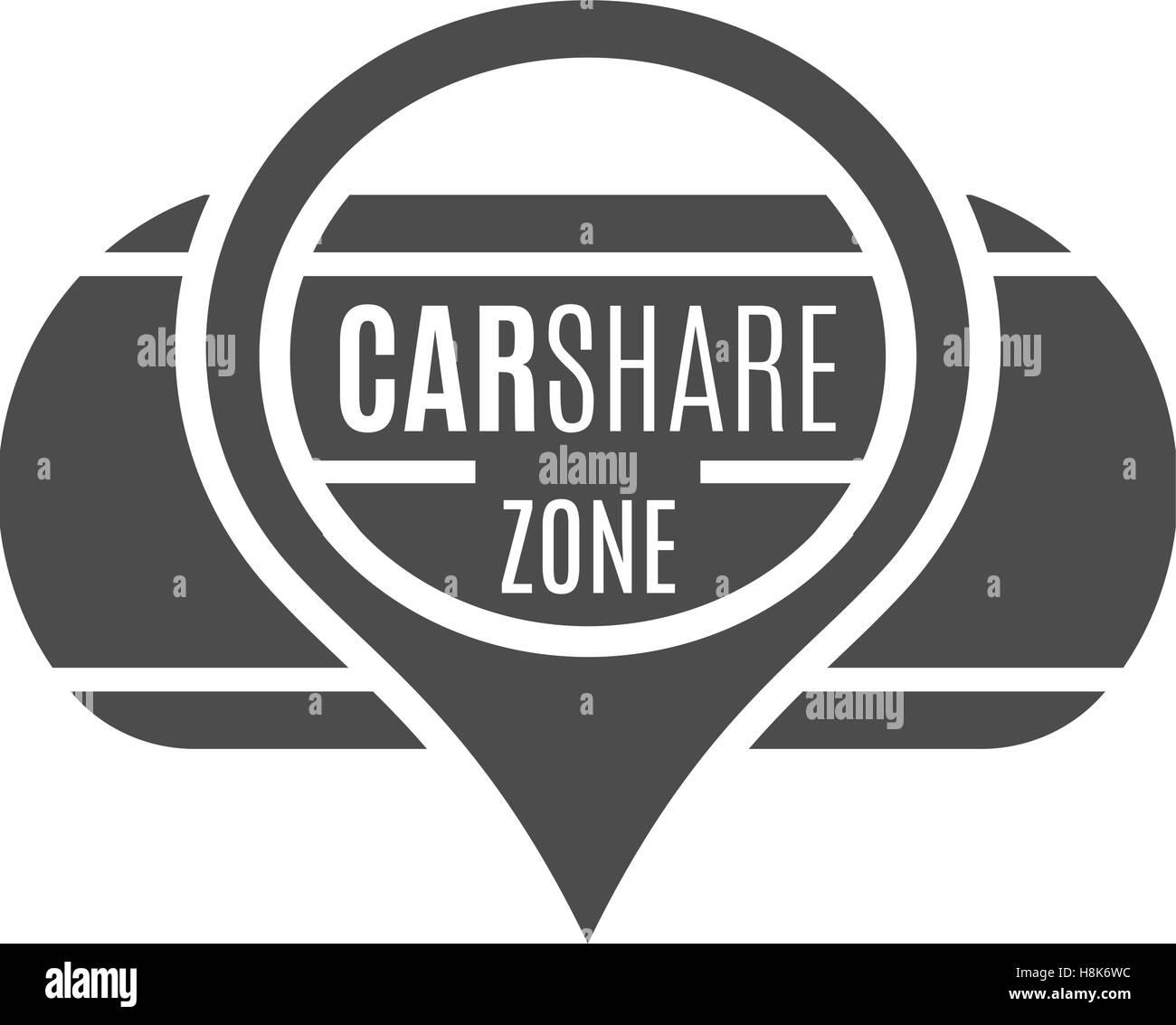 Car Share Logo Design Car Sharing Vector Concept Collective Usage