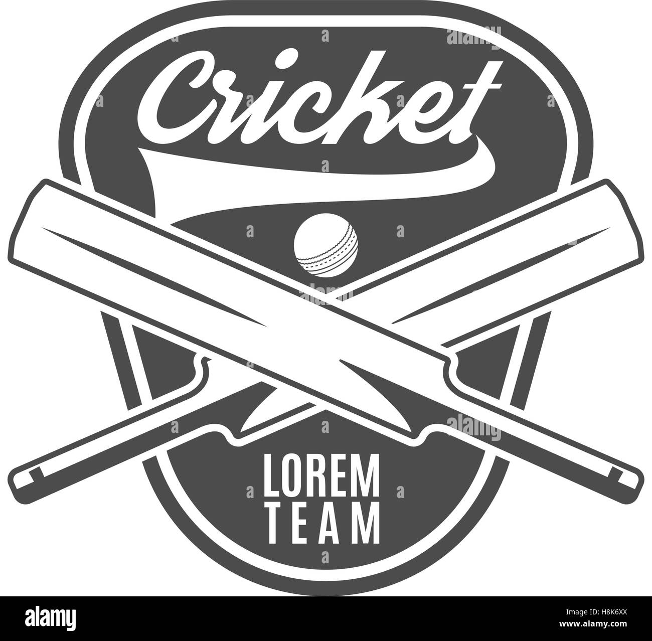 Cricket Team Emblem And Design Elements Cricket Team Logo Design
