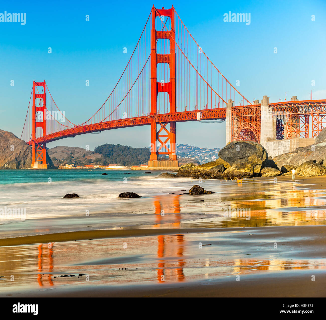 Golden Gate Bridge in San Francisco, California, USA. - Stock Image
