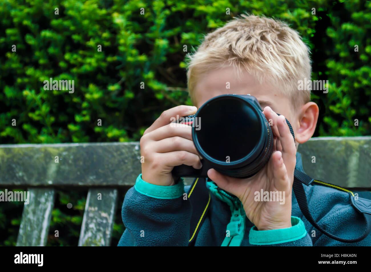 Young Boy Dslr Camera Stock Photos Young Boy Dslr Camera Stock