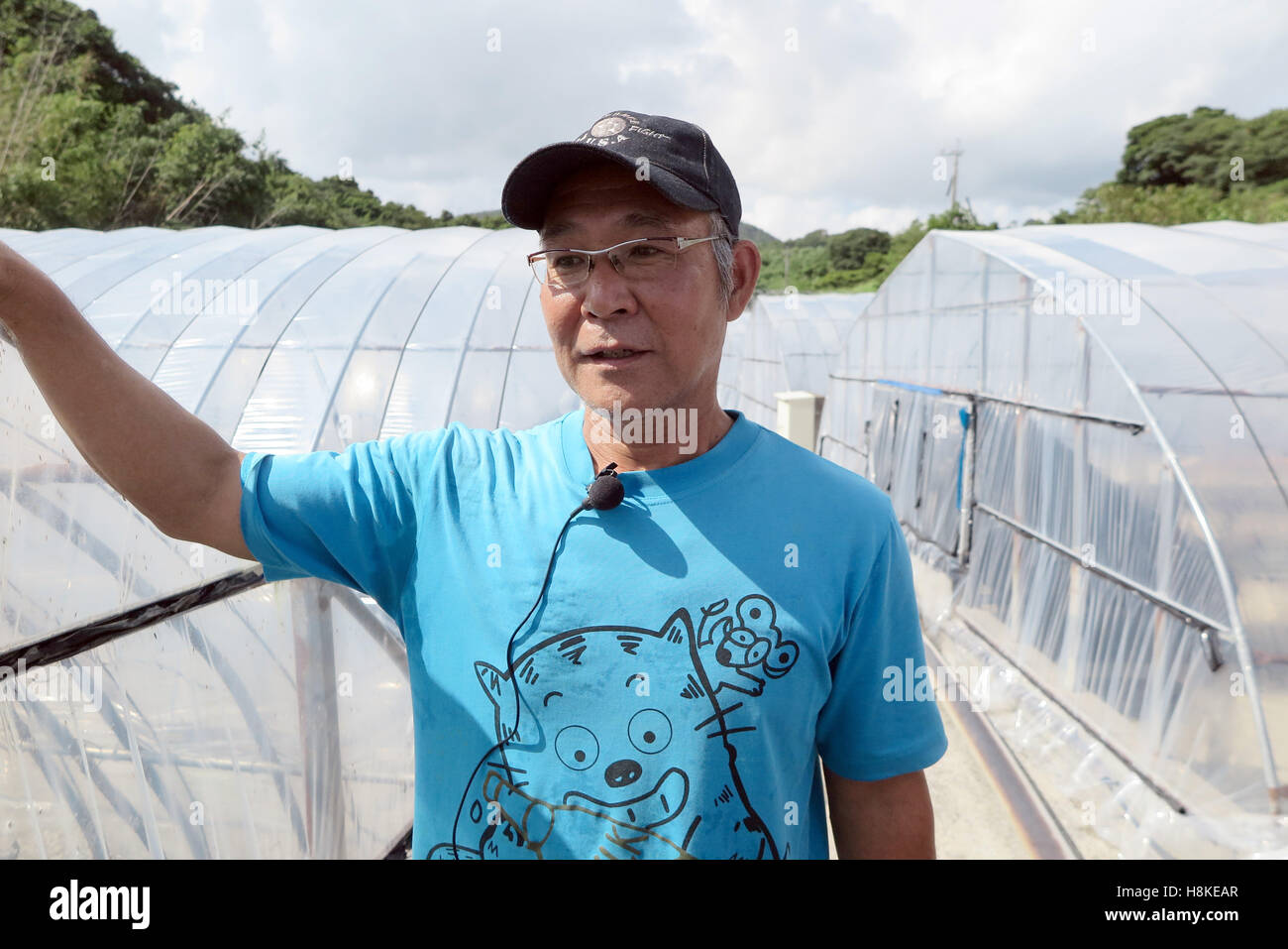 Ibuski, Japan. 13th Sep, 2016. Japanese eel breeder Hironobu Imamura in Ibuski, Japan, 13 September 2016. Hironobu - Stock Image