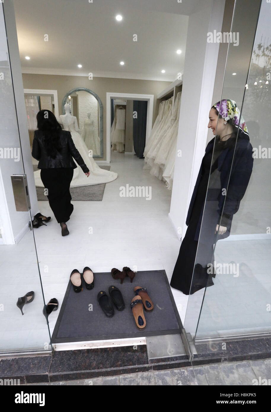 Grozny, Russia. 13th Nov, 2016. Inside a Marry Me bridal shop. © Valery Matytsin/TASS/Alamy Live News - Stock Image
