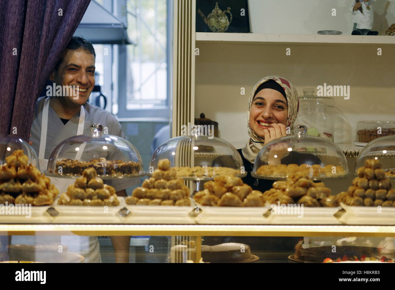 Grozny, Russia. 13th Nov, 2016. A local confectionery welcomes customers. © Valery Matytsin/TASS/Alamy Live - Stock Image