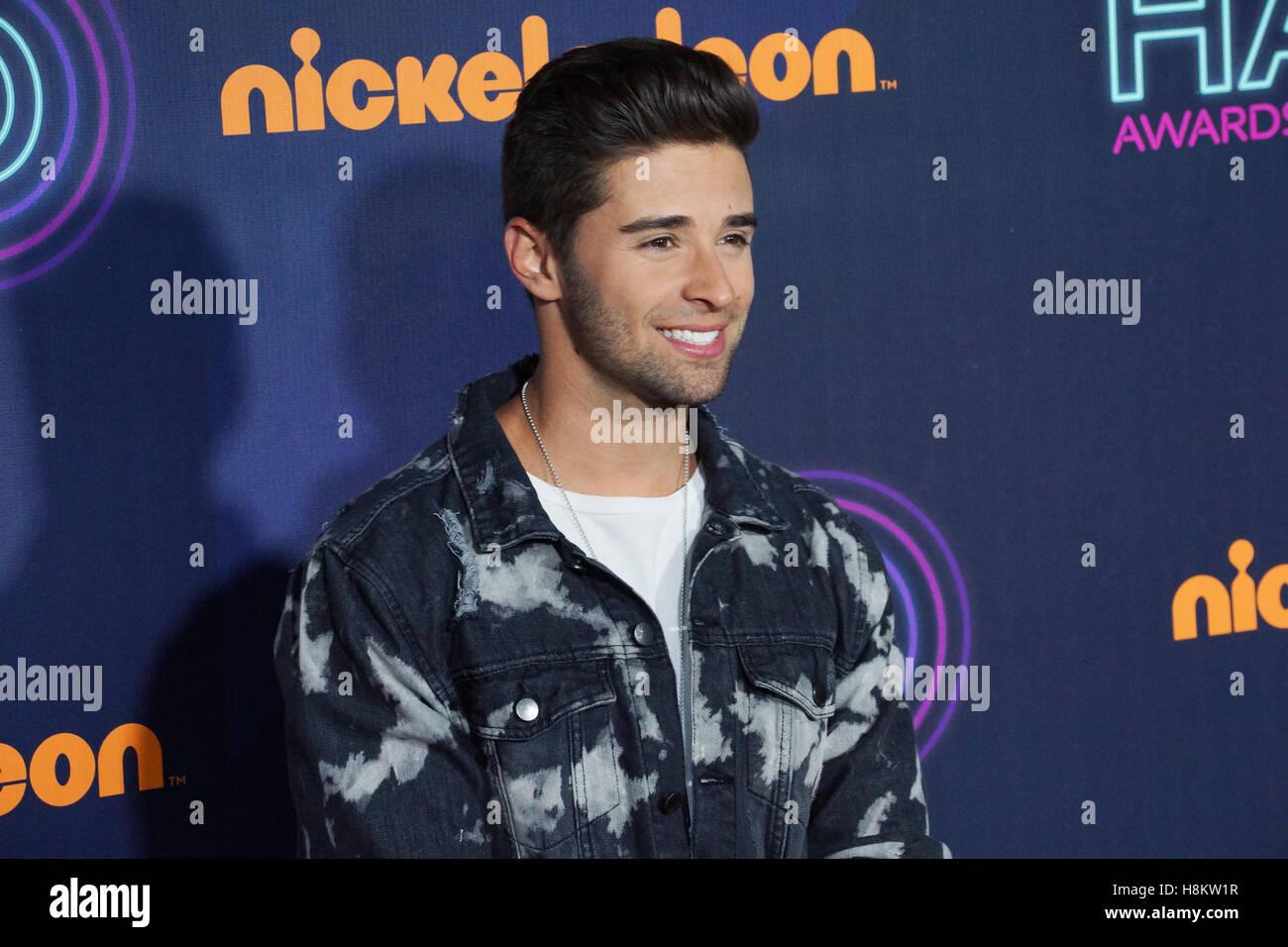 Jake Miller November 11, 2016 at The Nickelodeon HALO Awards at Pier 36 in New York, NY. - Stock Image