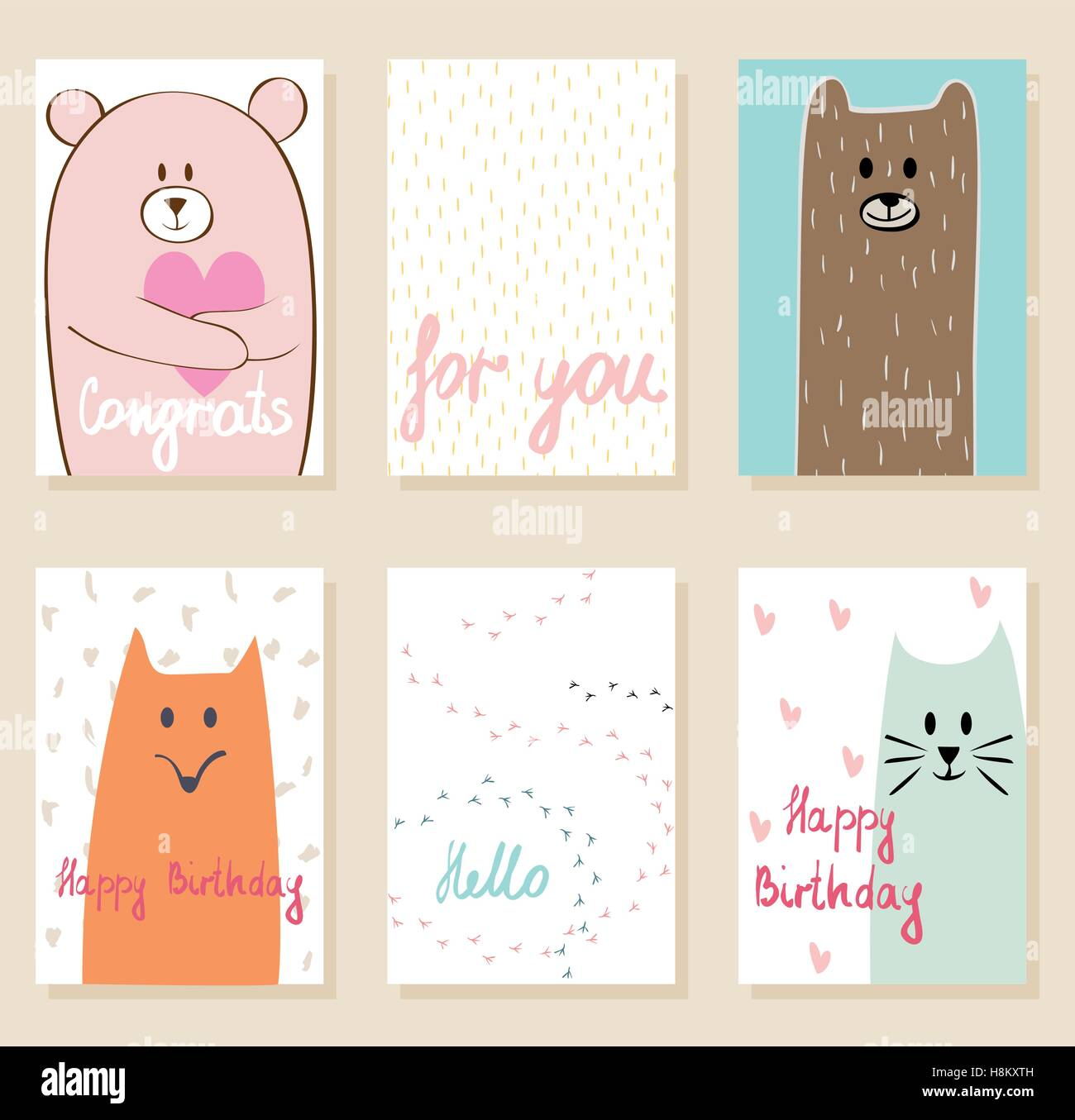 Vector artistic card - Stock Image