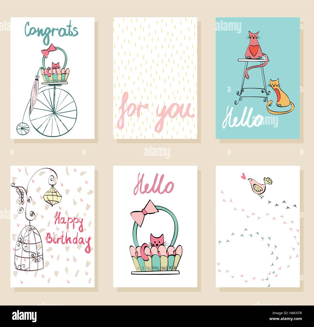 Vector greeting card - Stock Image