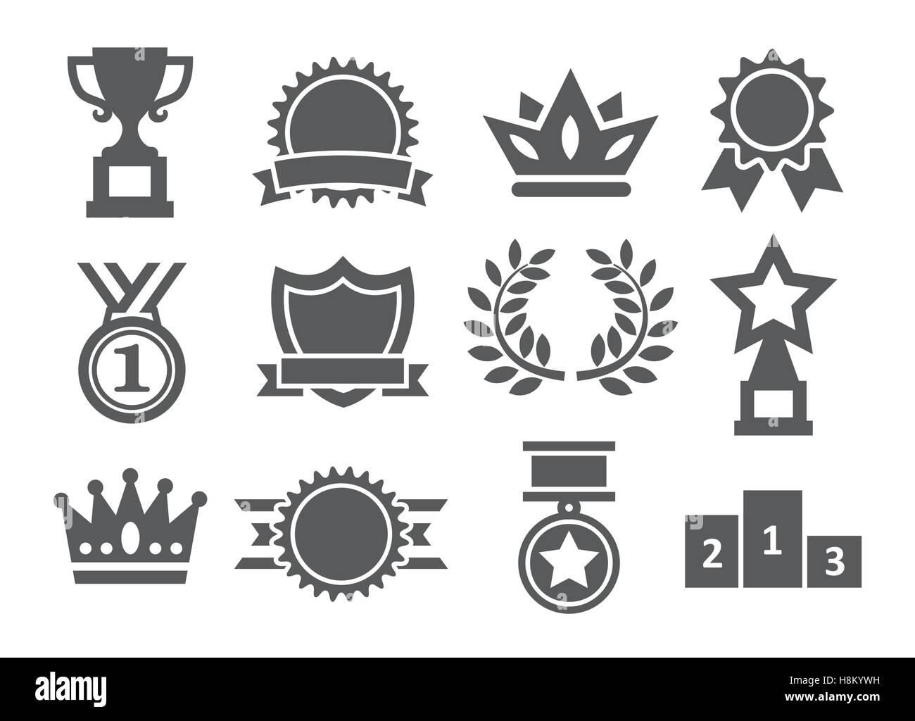 Awards icons - Stock Image