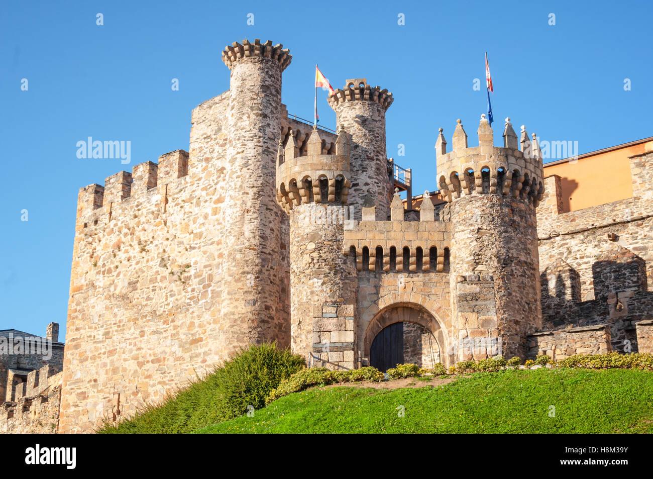 Ponferrada Castle entrance - Stock Image