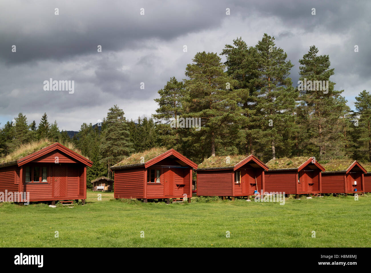 Row Of Cabins For Rent In The Valley Of Valle With An