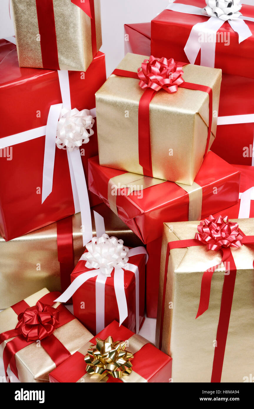 Pile Of Christmas Gift Boxes