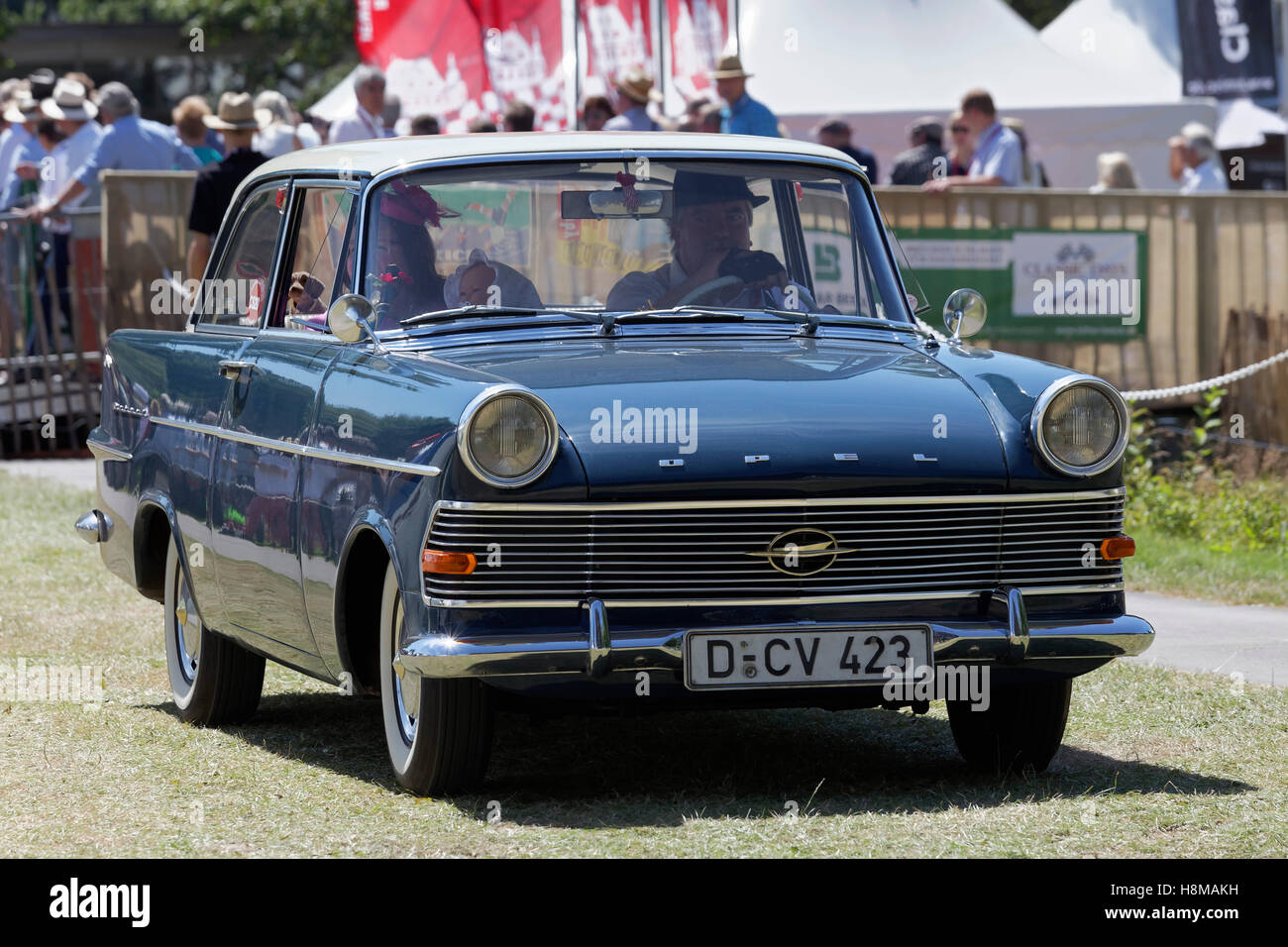 Opel Rekord P2 1960 Model Vintage Car Schloss Dyck Classic Days Stock Photo Alamy