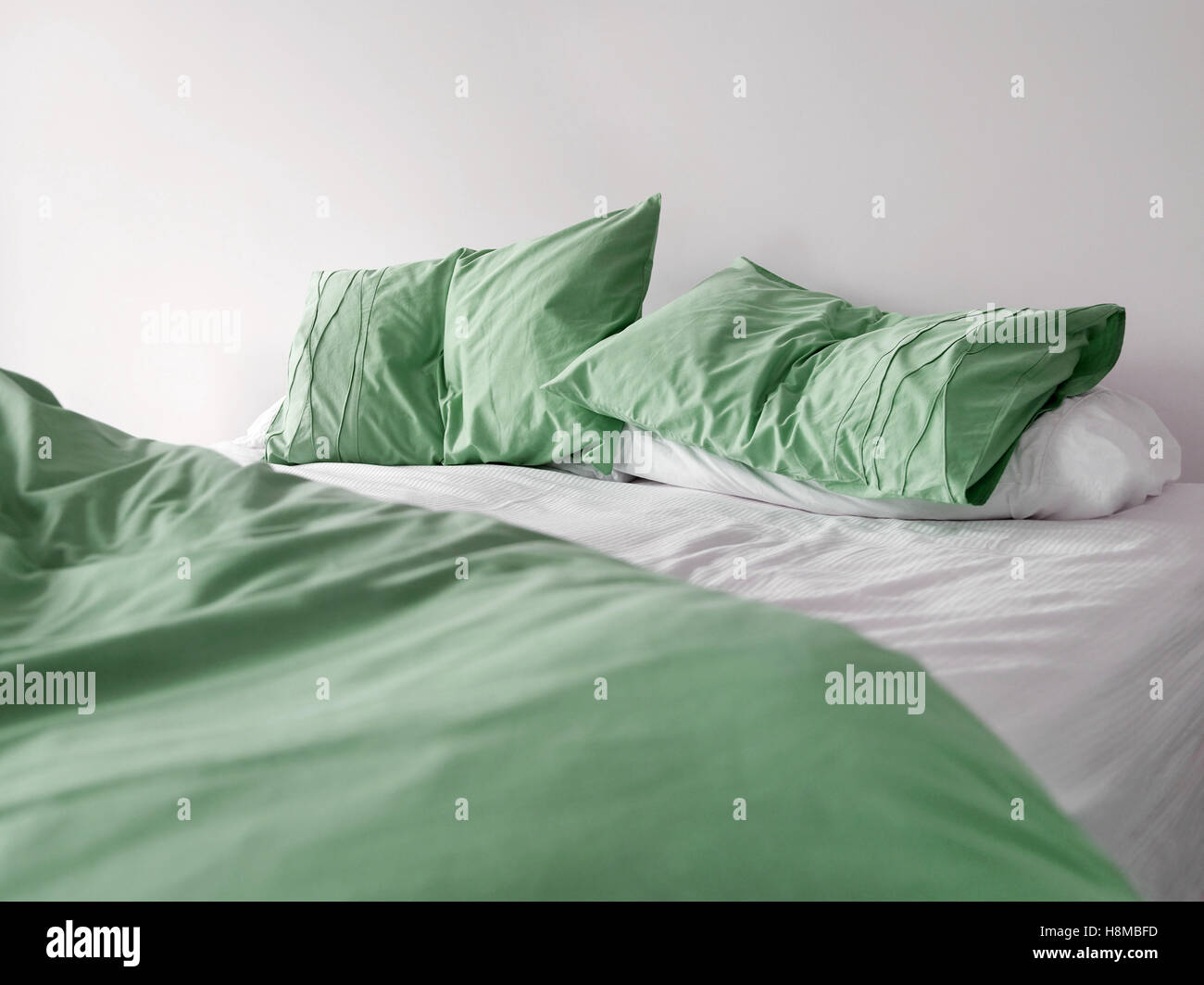 Green Bed - Stock Image