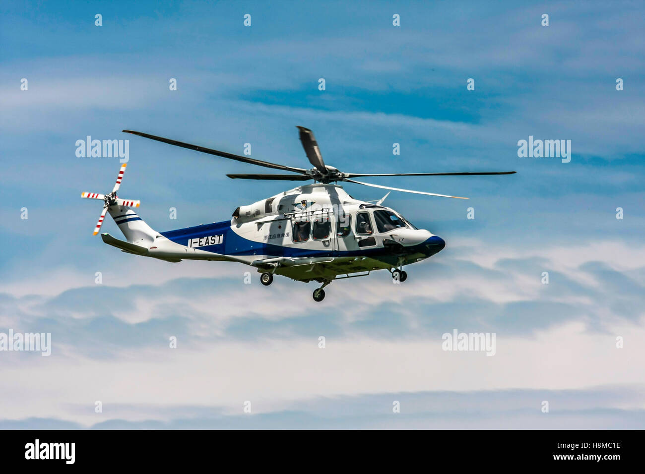 Privately owned agustawestland AW139 helicopter Photographed in Italy - Stock Image