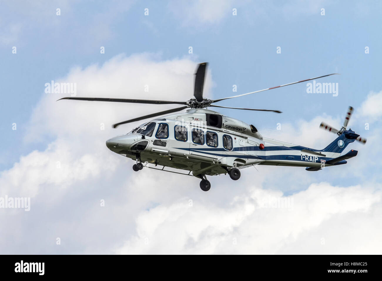Agusta-Westland AW-139 helicopter Photographed in Italy - Stock Image
