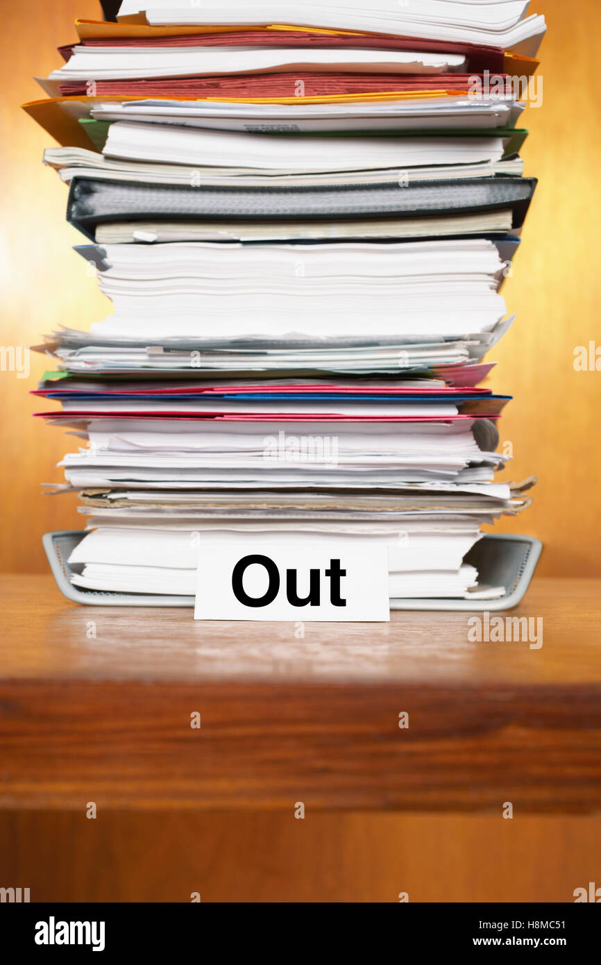 Overflowing outbox - Stock Image