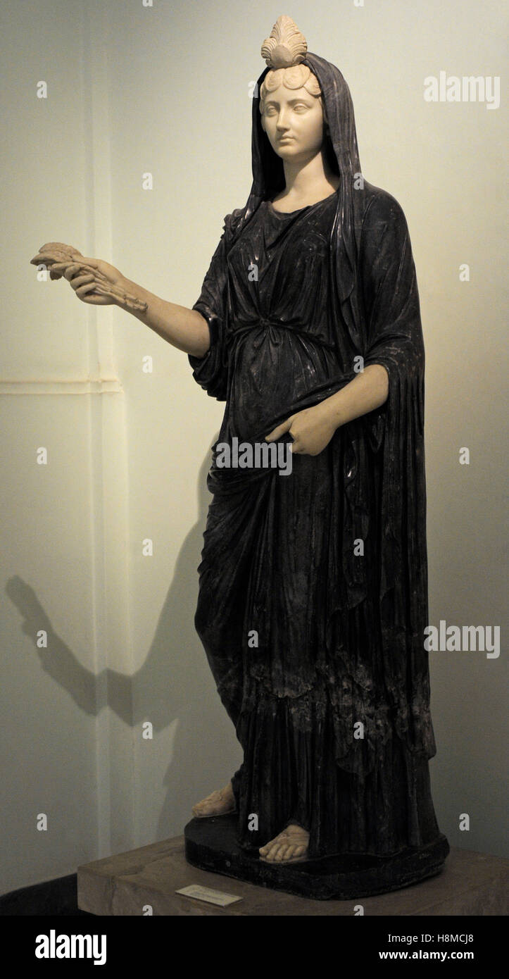 Fortuna-Iside restored as the younger Faustina in the clothes of Ceres. Bigio morato marble 2nd century AD. National - Stock Image