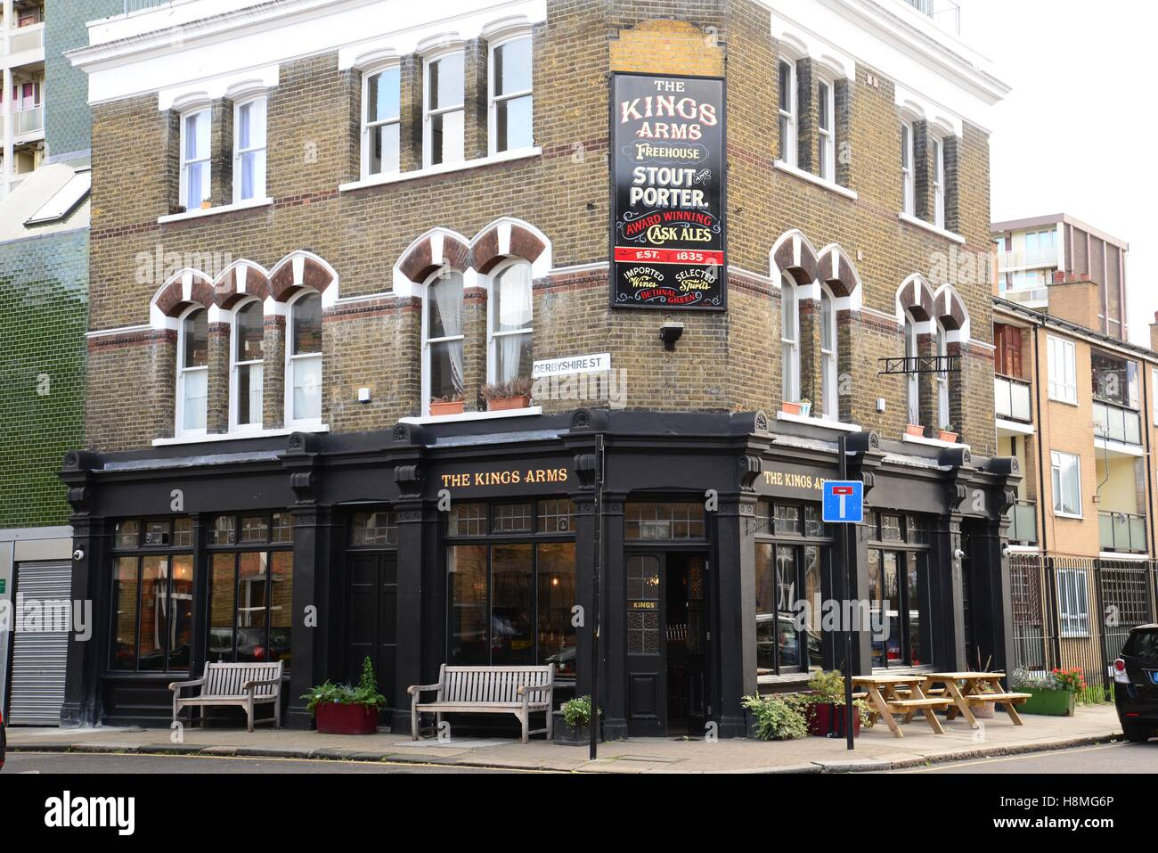 The Kings Arms pub, Bethnal Green, London, England - Stock Image