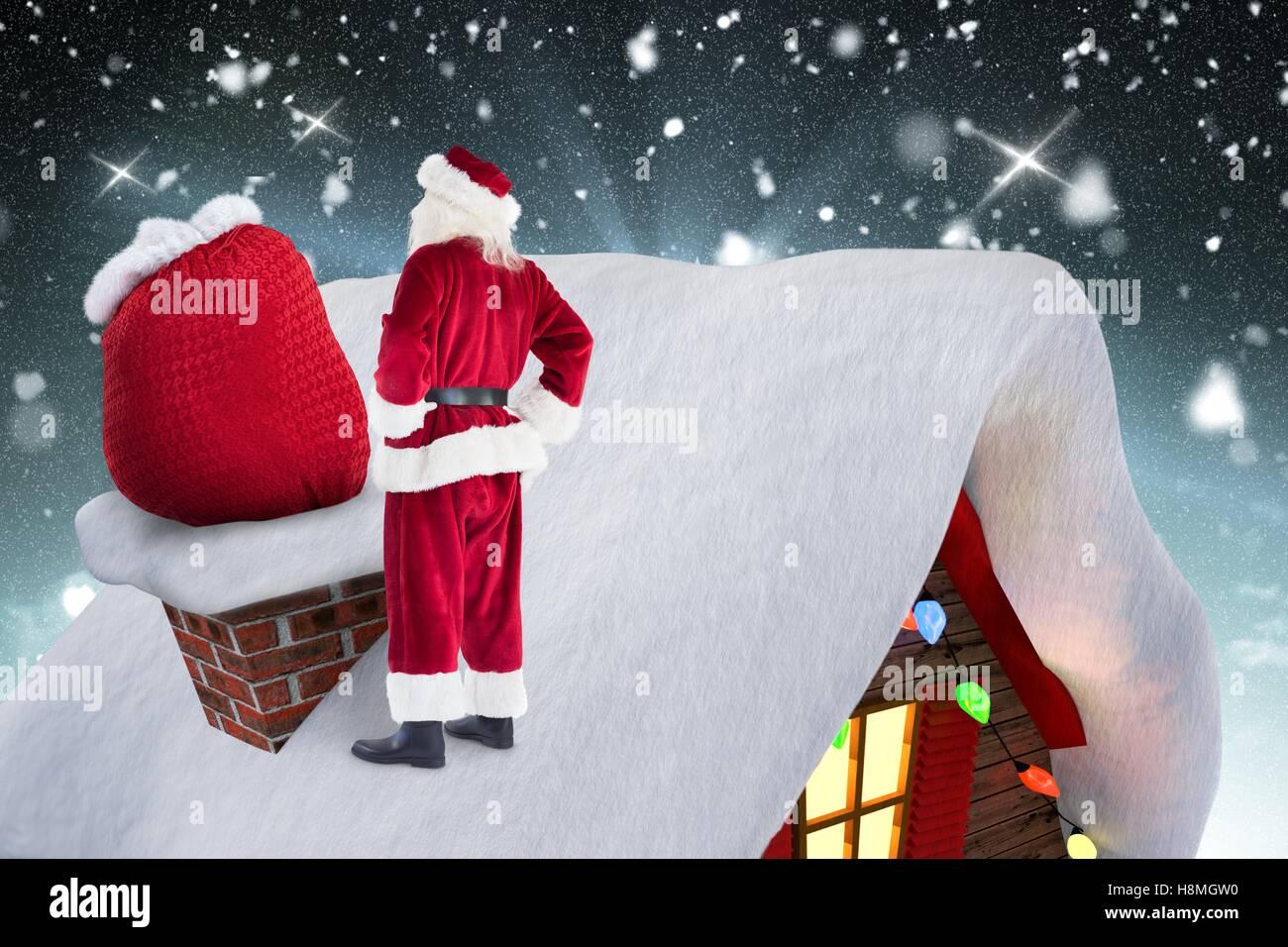 Isolated santa claus drinking milk christmas tree ornament stock