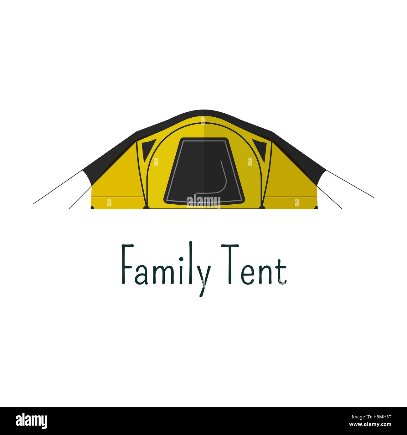 Family tent flat icon. Camping tent color pictogram. Tent symbol for ...