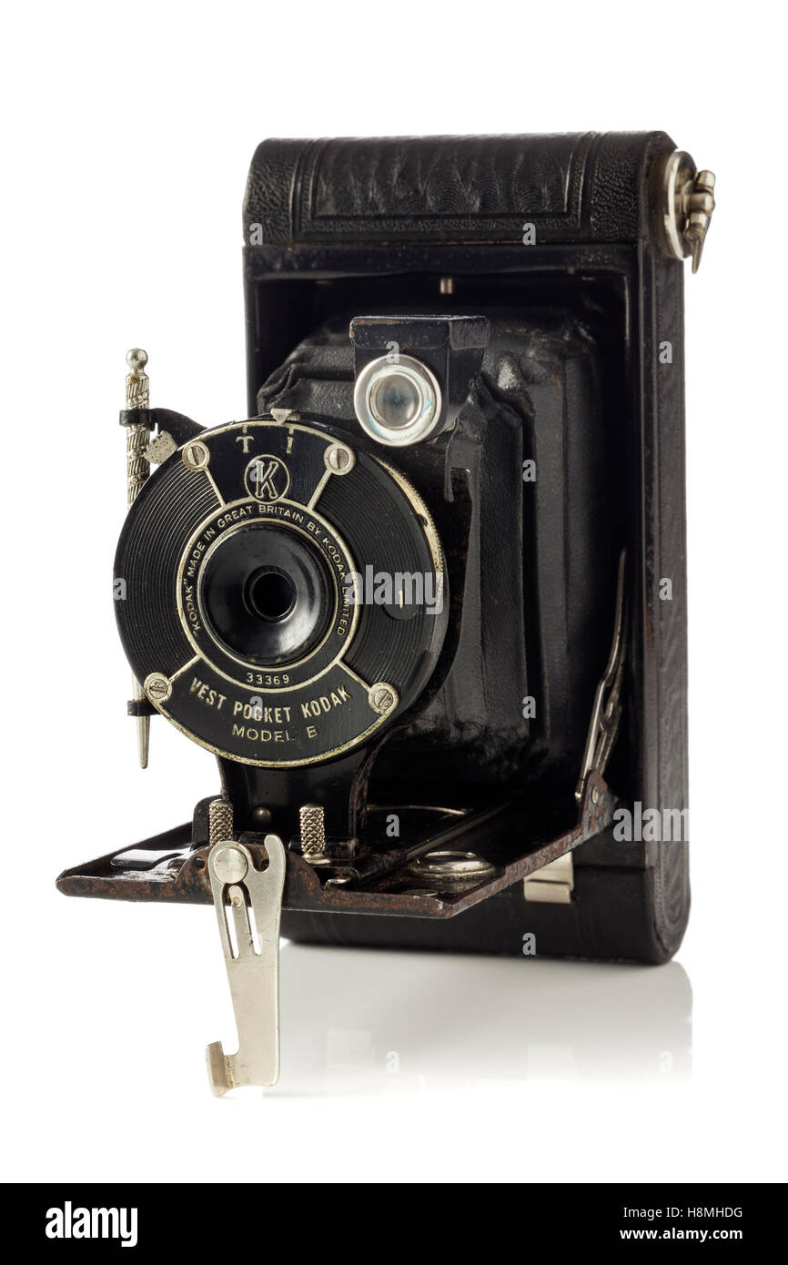 Kodak vest pocket model B vintage camera, produced by the Eastman Kodak  company 1925 - 1934 Stock Photo