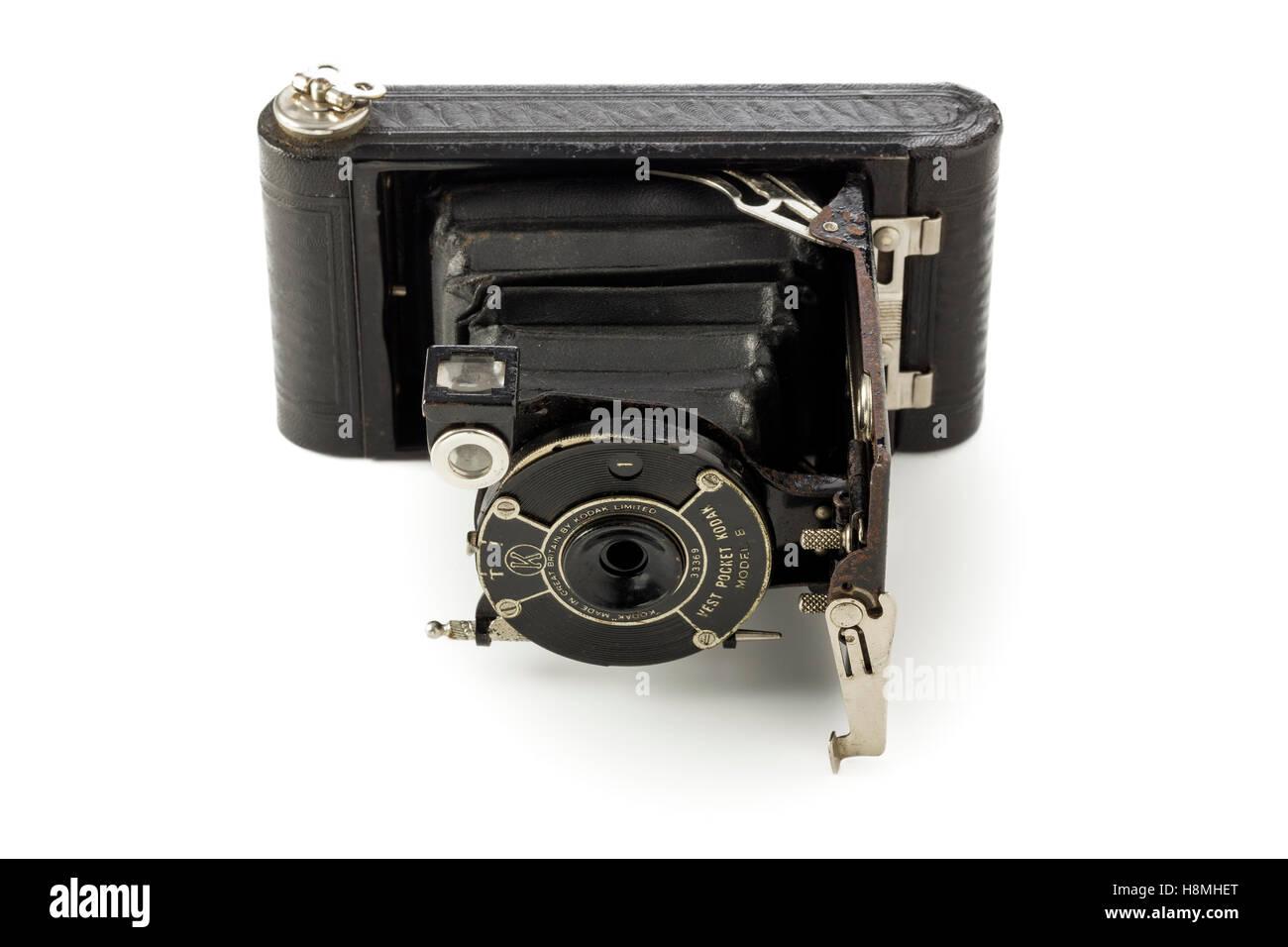 Kodak vest pocket model B vintage camera, produced by the Eastman Kodak  company 1925 - 1934 - Stock Image