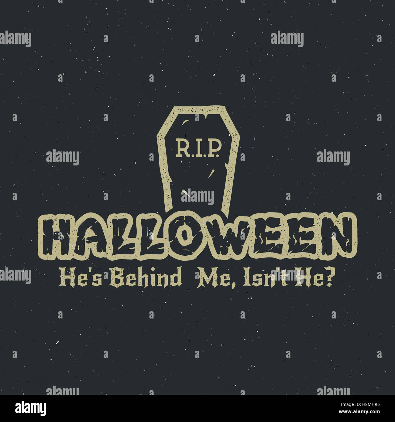halloween 2016 party label template with tombstone and typography