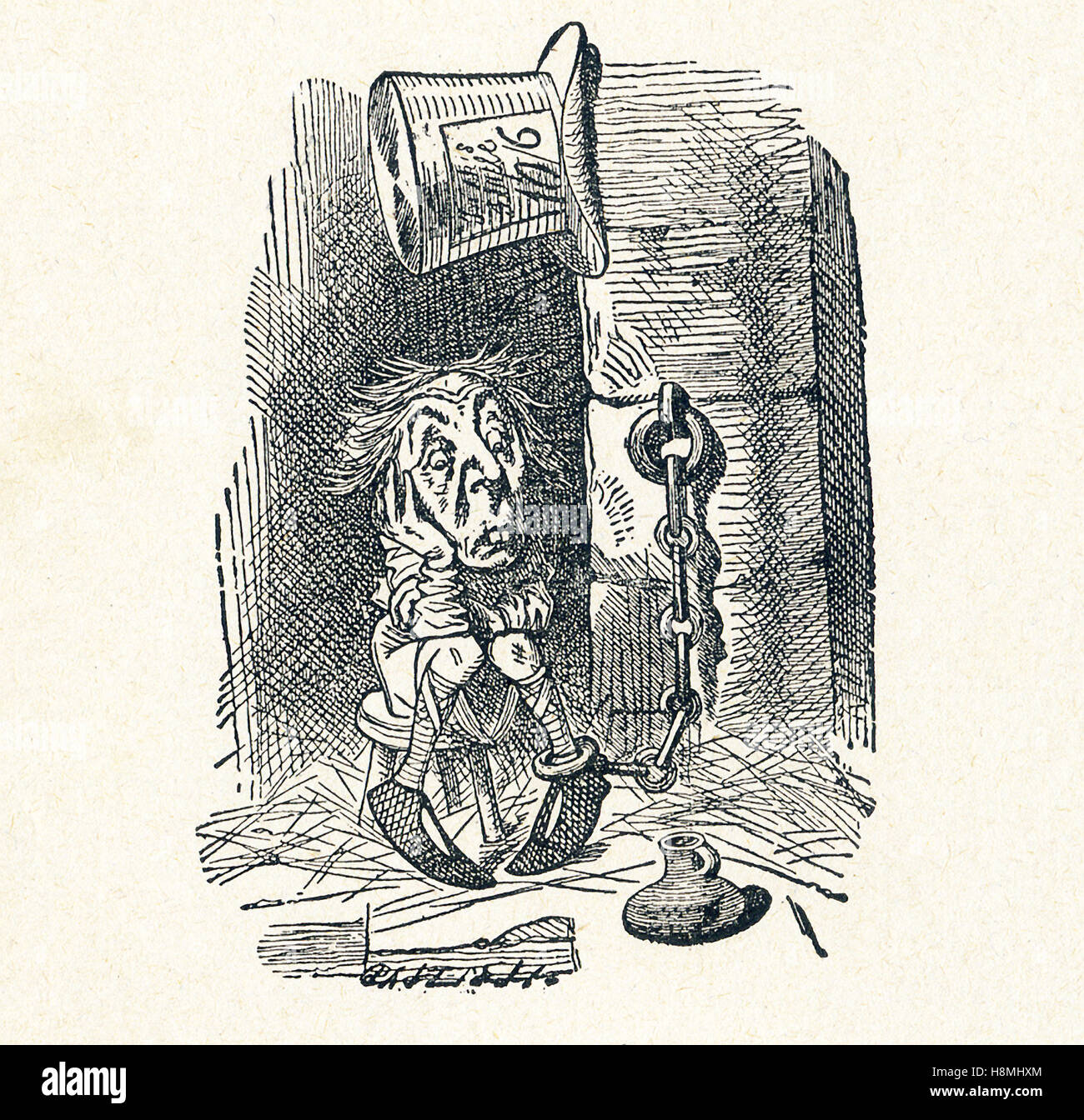 This is a scene from what Alice saw once she went through the Looking Glass and into the Looking Glass room in Lewis - Stock Image