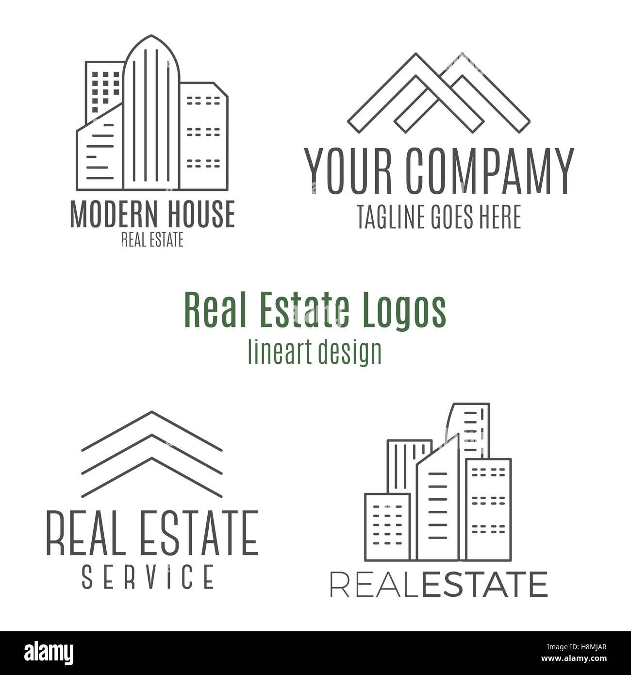 Real estate logo - Stock Image