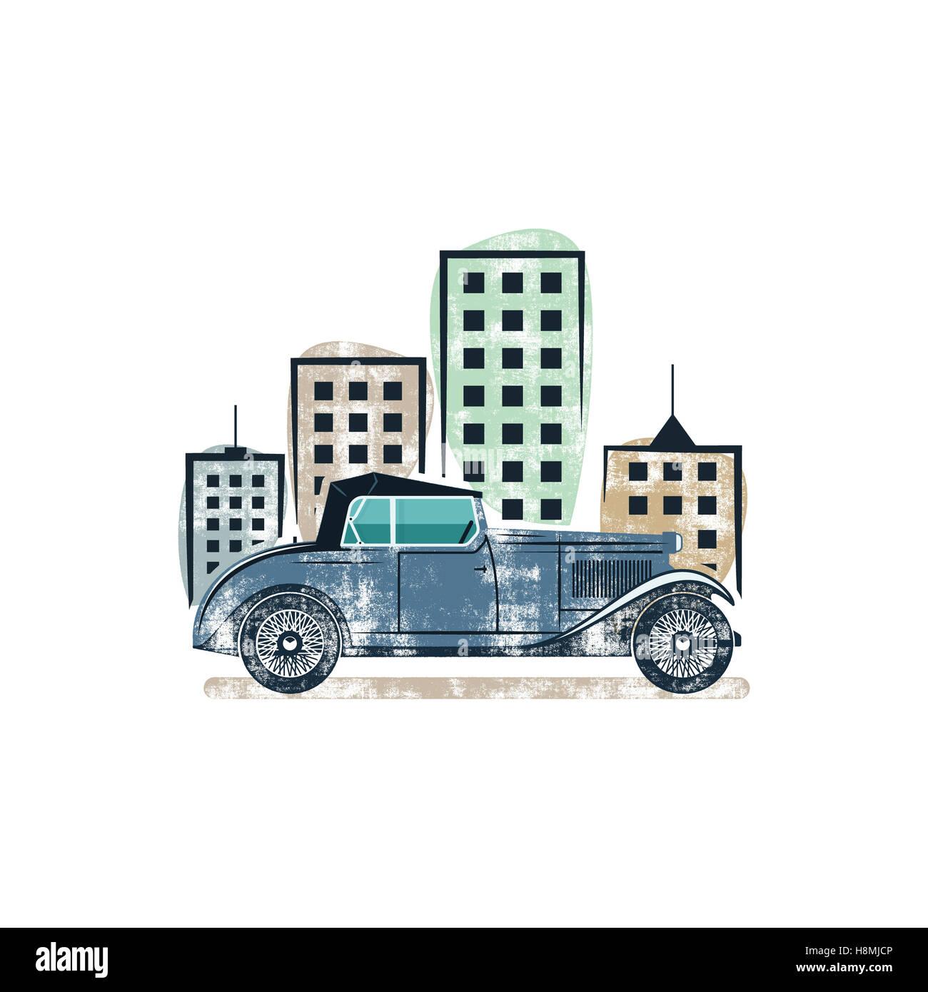 Vintage Car Show Label Design Classic Auto Badge Insignia Retro