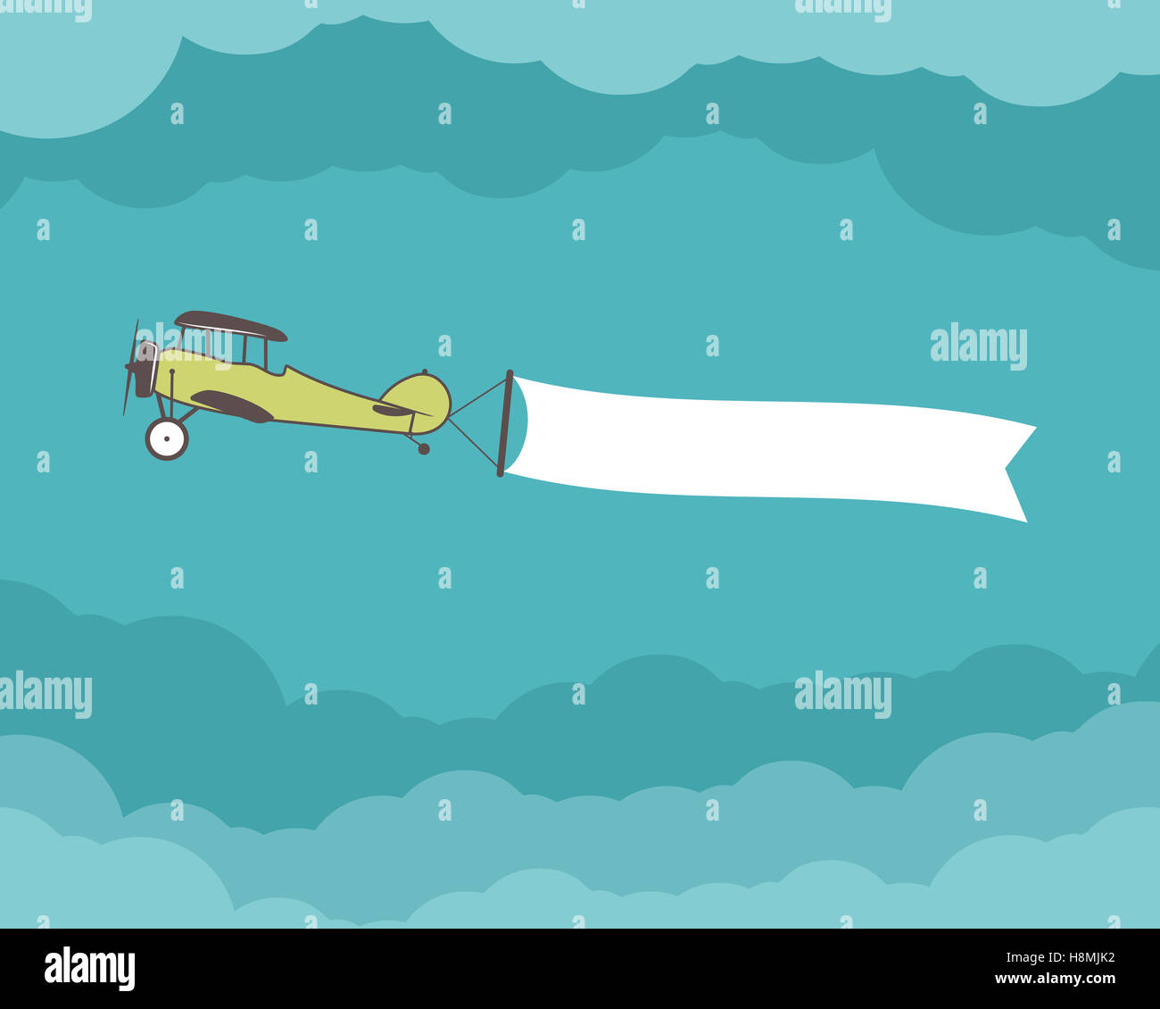 airplane with banner  empty form for quote  text  slogan  motivation stock photo  125843510