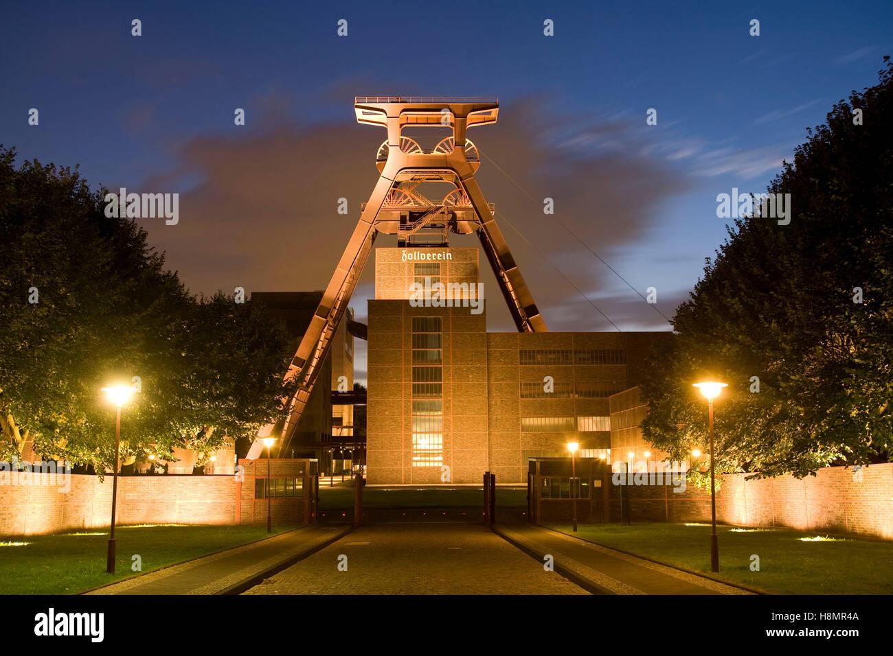 Germany,  Ruhr Area, Essen, industry monument Zeche Zollverein, shaft XII, shaft tower. - Stock Image