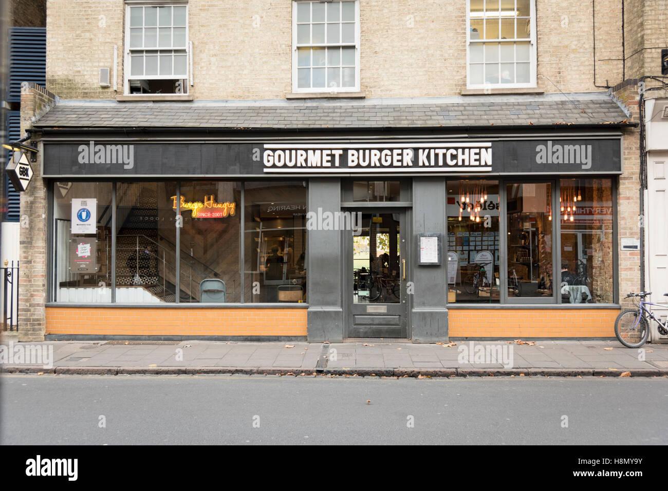 The Gourmet Burger Kitchen restaurant Regent Street Cambridge UK ...