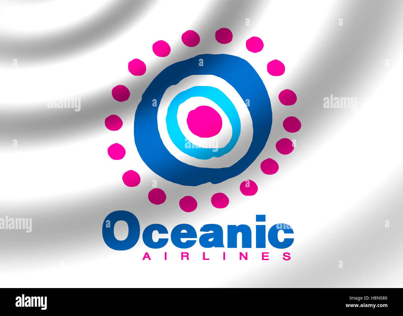 Oceanic Air Airlines logo - Stock Image