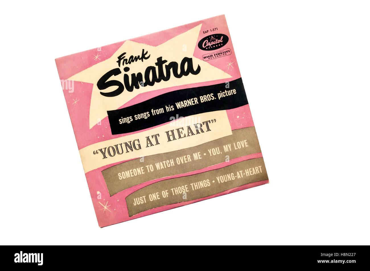 EP of  Frank Sinatra Sings Songs From His Warner Bros. Picture 'Young At Heart' released in 1955 by Capital - Stock Image