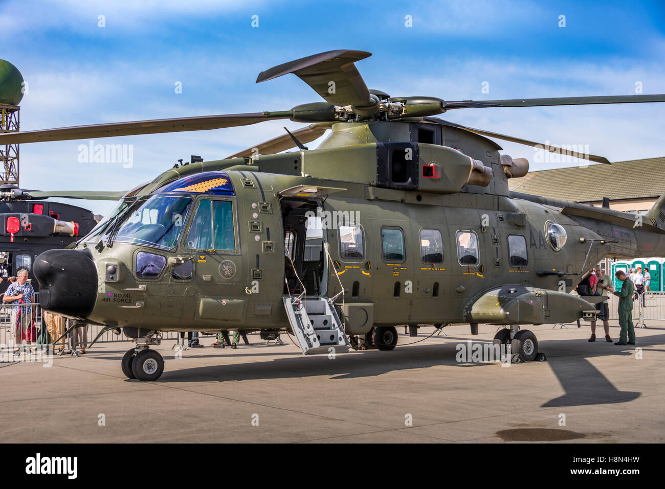 Merlin HC3A (AgustaWestland AW101) helicopter on static display - Stock Image