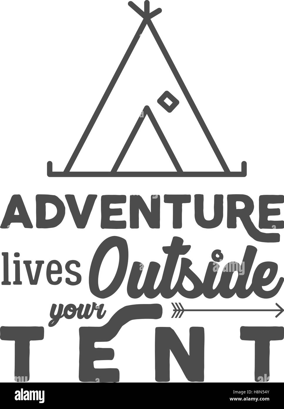 Camping Logo With Typography Saying And Travel Elements