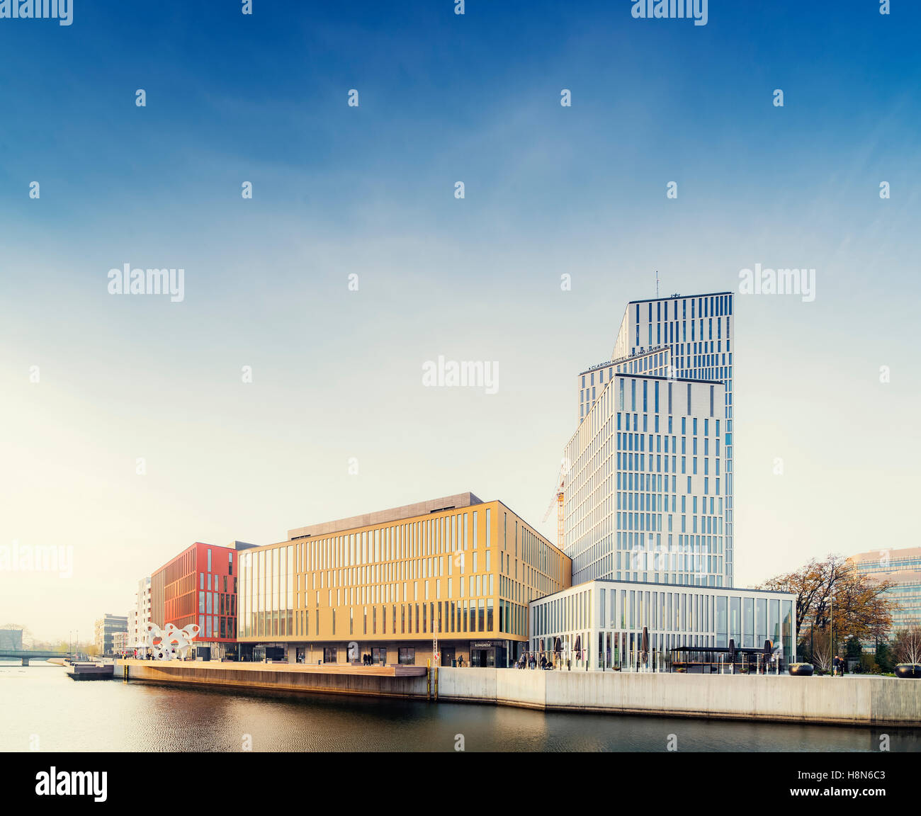 Malmo Live concert hall on sunny day, Sweden - Stock Image