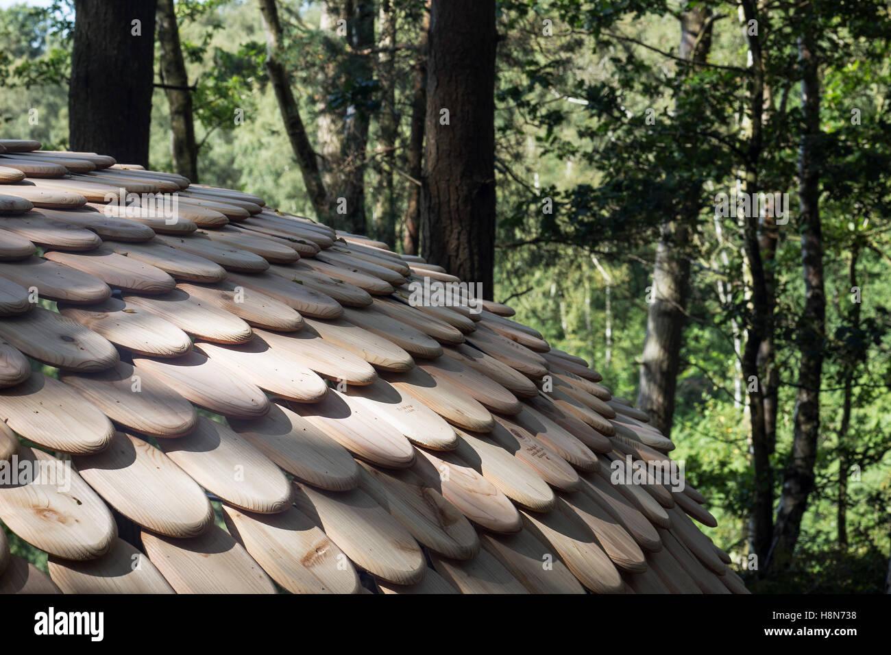 C. Perspectives. Pavilion, Surrey Hills, United Kingdom. Architect: Giles Miller Studio , 2016. - Stock Image