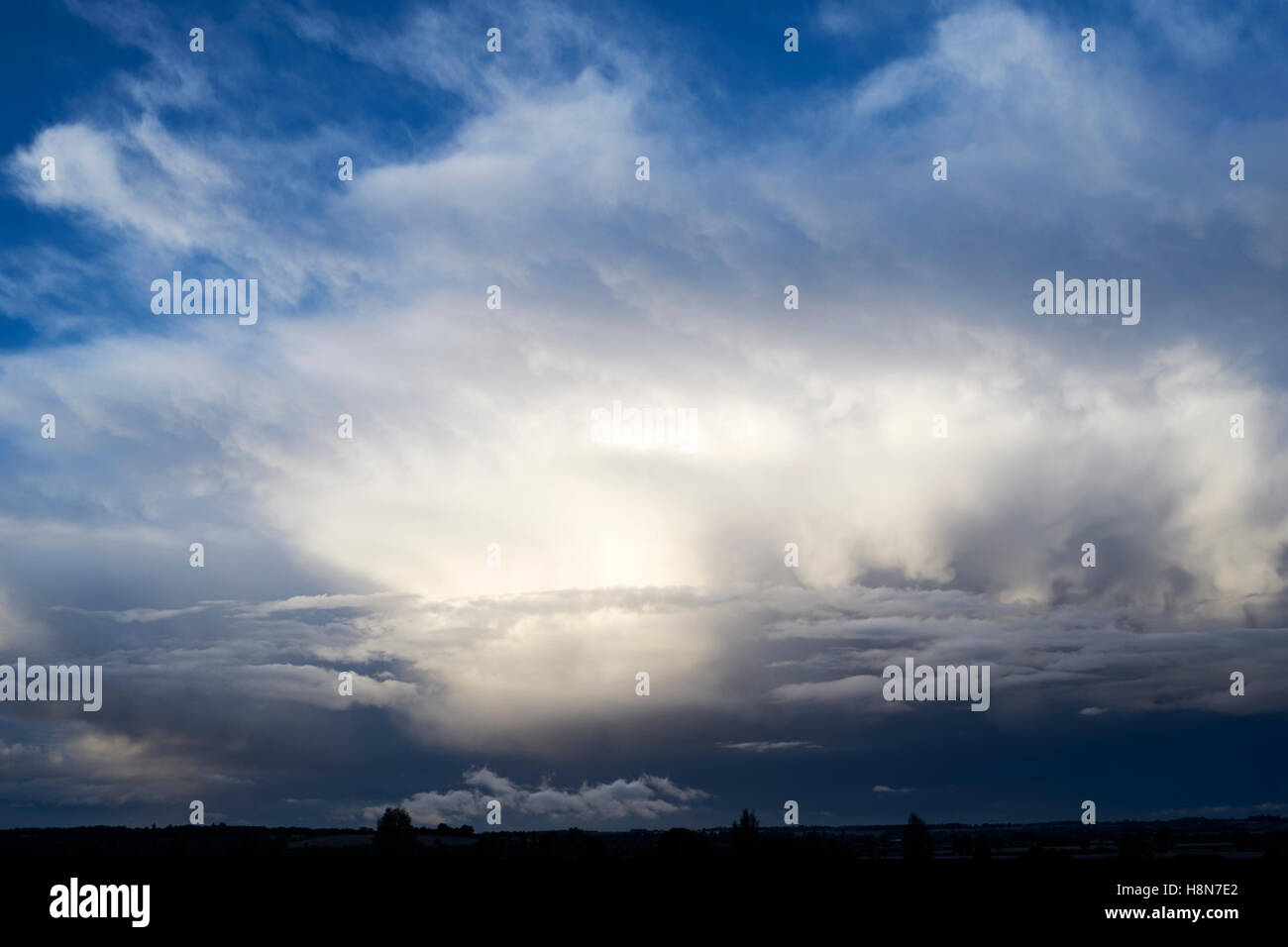 Storm clouds over the East of England, UK. - Stock Image