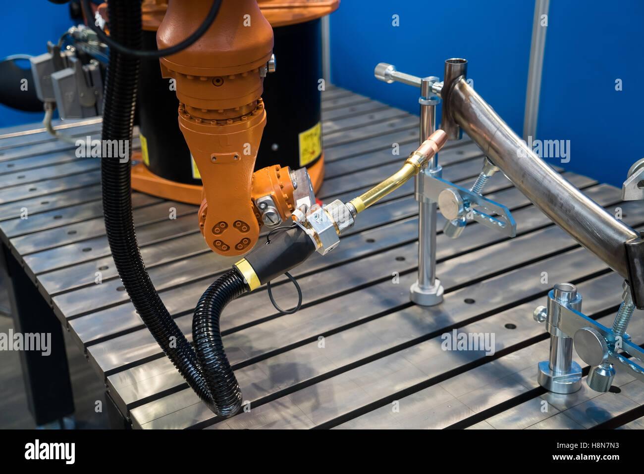 Robot welding equipment - Stock Image