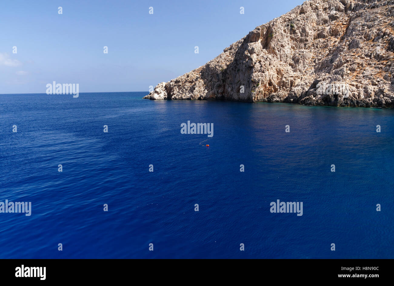 Cape Mirtos, Chalki Island near Rhodes, Dodecanese Islands, Greece. - Stock Image