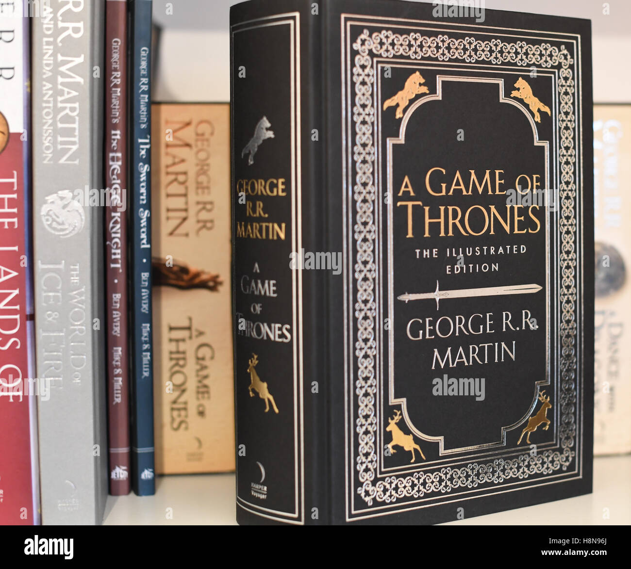 A Game of Thrones book, the first book in the Song of Ice and Fire