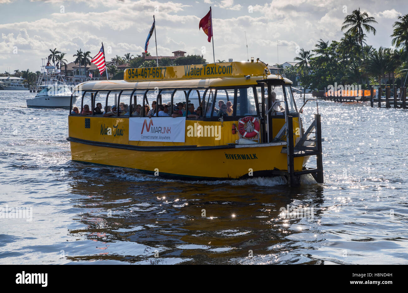 Fort Lauderdale Water Taxi Stock Photo